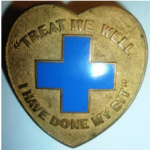 Blue cross badge